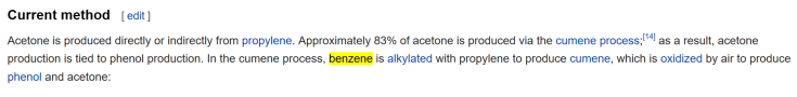 Acetone on Wikipedia